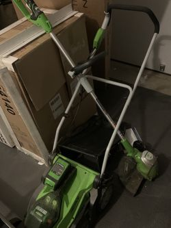 Greenworks Cordless Lawn Mower And Weed Eater for Sale in Arlington,  VA