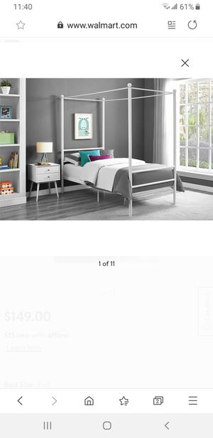 Full size canopy bed frame for Sale in Lynwood, CA