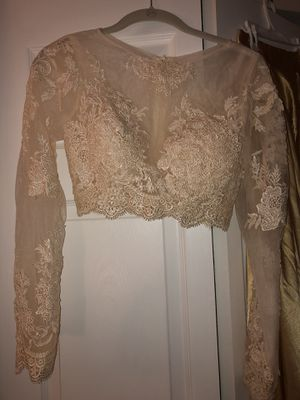 Gold Prom Dress, never wron for Sale in Fairfax Station, VA