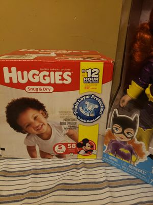 Huggies diapers and a DC Batgirl doll for Sale in Bensalem, PA