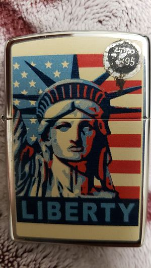 Zippo lighter liberty design sealed new for Sale in Torrance, CA