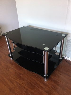 Black Glass TV Stand for Sale in Los Angeles, CA