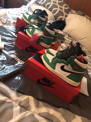 retro 1 jordan lucky green sneaker for sale woman's size 8 1/2 -7 men and a woman's size 8 -6 1/2 men ..nike shoes for Sale in Trenton, NJ