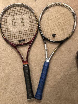 Wilson Titanium graphite & Hammer Titanium tennis racquets for Sale in Cary, NC
