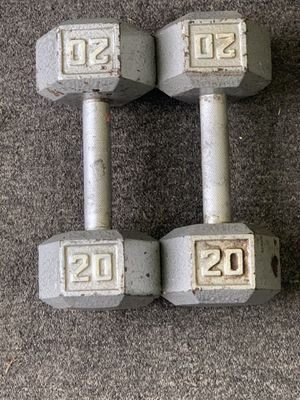 Pair of 20lbs dumbbells for Sale in Columbus, OH