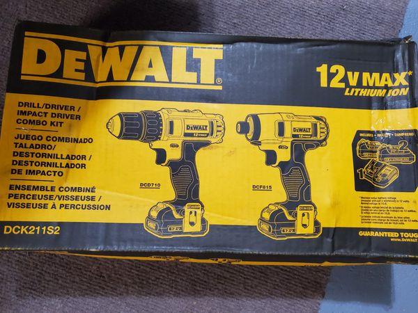 DEWALT 12V MAX DRILL/DRIVER / IMPACT DRIVER COMBO KIT