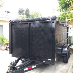2021 NEW DUMP TRAILER8X12X4 12000 LBS INCLUDING ROLLING TARP AND SPARE TIRE for Sale in Los Angeles, CA