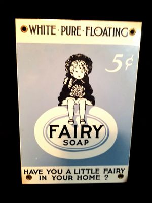 Vintage Fair Soap Metal Advertisement! Light Blue and White - Great Condition! for Sale in Port St. Lucie, FL
