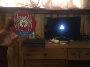 REAL PS4 SLIM WITH SPIDER-MAN GAME NO CONTROLLER for Sale in Belgrade, MT