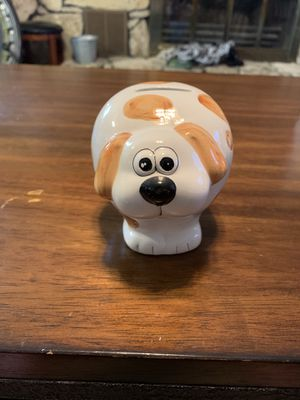 Brown and white dog piggy bank for Sale in Conway Springs, KS