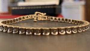 49 Diamond 10k Gold Tennis Bracelet 1.0tw - Pulsera estilo Tennis de 10k oro blanco con 49 diamantes for Sale in Herndon, VA