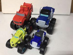 Fisher-price Nickelodeon Blaze & The Monster Machines Slam & Go and 2 DieCast trucks for Sale in Kirkland, WA