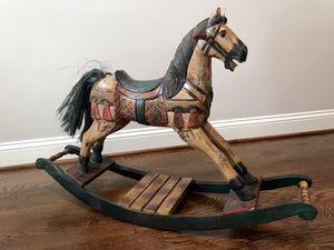 Vintage wooden rocking horse for Sale in Charlottesville, VA