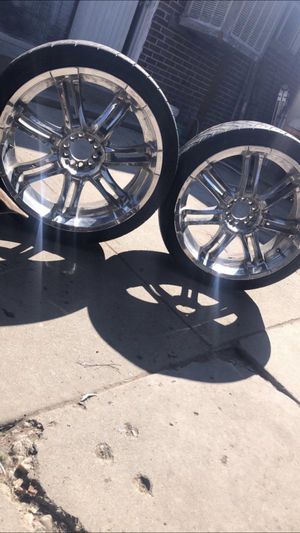 22 rims and tires for Sale in Salt Lake City, UT