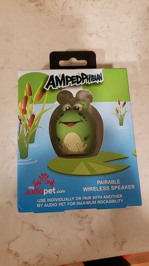 Ampedphibian audio pet bluetooth speaker for Sale in Bellevue, WA