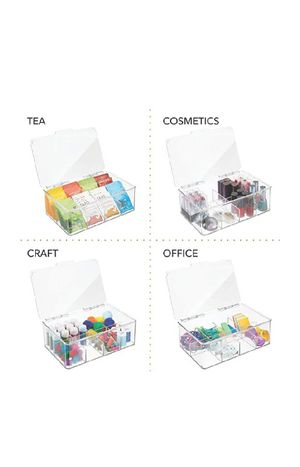 mDesign Stackable Plastic Tea Bag Holder Storage Bin Box for Kitchen Cabinets, Countertops, Pantry - Organizer Holds Beverage Bags, Cups, Pods for Sale in Las Vegas, NV
