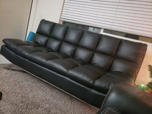 Genuine Leather Lifestyle Solutions Delray Sofa (black) for Sale in Portland, OR