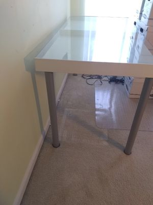Desk with glass cover and slots for storage for Sale in Frederick, MD