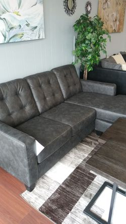 New Ashley Gunmetal Sofa Chaise for Sale in Parma,  OH