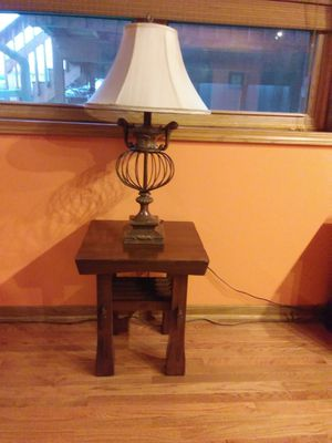 Two matching solid wood end tables. Pick up and cash only. for Sale in Homer Glen, IL