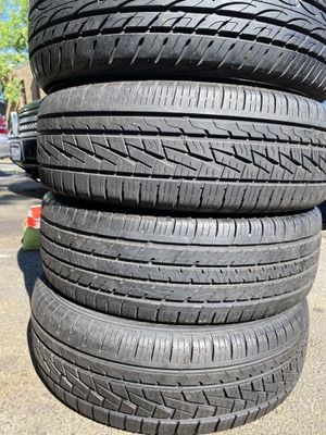Set 4 usted tire 225/60R18 two SUMITOMO one YOKOHAMA end one GEOTOUR set 4 used tire $130 for Sale in Alexandria, VA