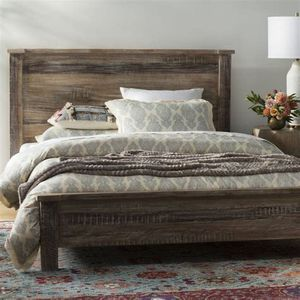 Wooden Panel Bed Frame (Queen) for Sale in Alpharetta, GA