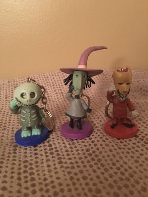 Nightmare Before Christmas Lock Shock Barrel Keychains for Sale in Pittsburgh, PA