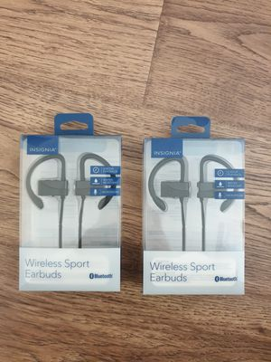 ( Lot of 2 ) Insignia Bluetooth Headset Wireless for Sale in Chicago Ridge, IL