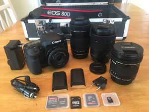 Canon 80D DSLR Camera package for Sale in Aliquippa, PA