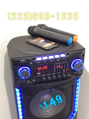 2 Wireless 🎤 Included • 9,000 Watts* BLUETOOTH Party Speaker • Loud • BASS • TWS NEW MODEL 💥 Mucho Party for Sale in Los Angeles, CA