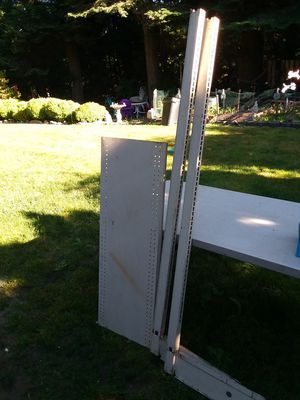 Metal shelving with rack for Sale in Stanwood, WA