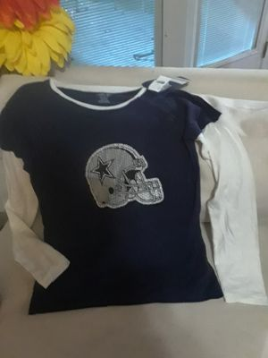NEW DALLAS COWBOYS LADIES LONG SLEEVE SHIRT SIZE SMALL for Sale in Richardson, TX