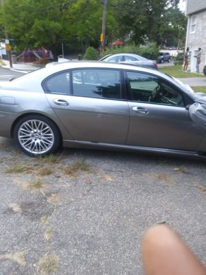 Bmw750li front end damage runs and drives title clean needs Fender Hood windshield bumper air bag and tie rod for Sale in Dedham, MA