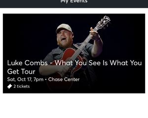 2 Luke Combs Tickets! For SF! for Sale in Modesto, CA