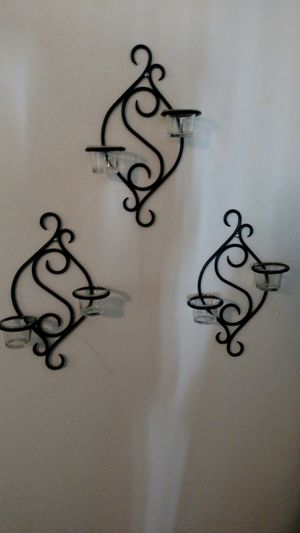 Set of 3 PartyLite Scroll Sconce for Sale in Largo, FL