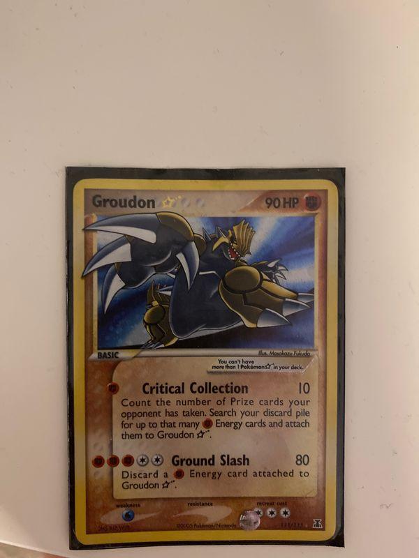 Ultra rare pokemon card shining Groudon Delta Series