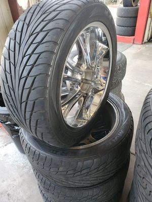 "22"" rims and tires universal for Sale in Fontana, CA"