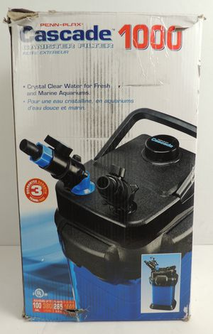 Penn Plax Cascade 1000 Aquarium Canister Filter for Fish Tanks up to 100 Gallons for Sale in Modesto, CA