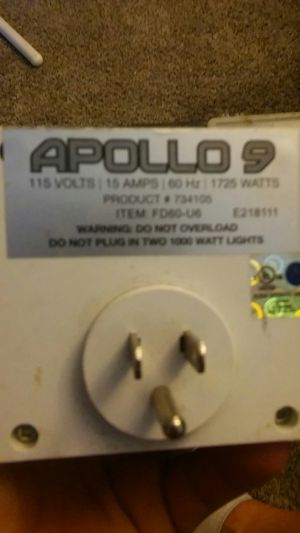 Apollo 9 timer 115 volts 15vamps for Sale in Vista, CA