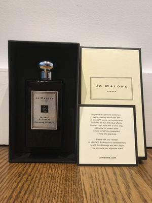 NIB Jo Malone London Incense & Cedrat Cologne Intense 3.4 oz/100 ml Unisex Oriental Woody Fragrance for Sale in NJ, US