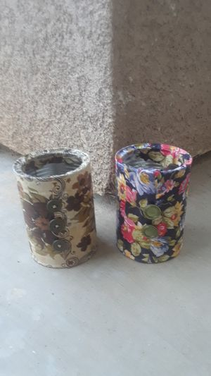 Handmade, Fabric Covered Flower Containers for Sale in Orange Cove, CA