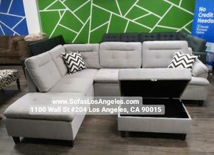 Light grey sofa sectional couch for Sale in Downey, CA