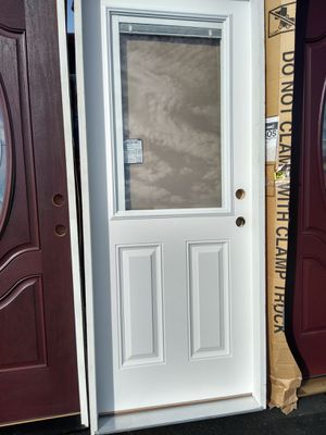 "Exterior door fiber glass w mini blinds 32"" left for Sale in Rancho Cucamonga, CA"