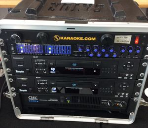 System w/ Voco Pro Equalizer, 2 CD/DVD Players and QSC 2CH Audio Power Amp. 2 Community DnD12 750W Peak, 2-Way Loudspeakers w/Stage Stands for Sale in Laurel, MD