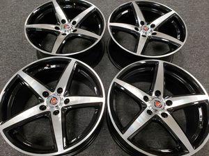 "new 17x7.5"" black/polished rims wheels 5x114.3 bolt pattern for Sale in Sacramento, CA"