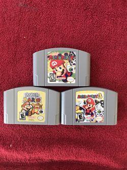 Mario Party 1 3 Paper Mario Nintendo 64 N64 for Sale in Old Saybrook,  CT