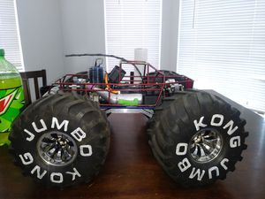 Rc jumbo kongs wheels.14mm hex for Sale in Sacramento, CA