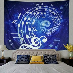 Music Tapestry Wall Hanging Blue Note Hippie Bohemian Mandala for Bedroom Home Dorm Decor for Sale in Glendora, CA