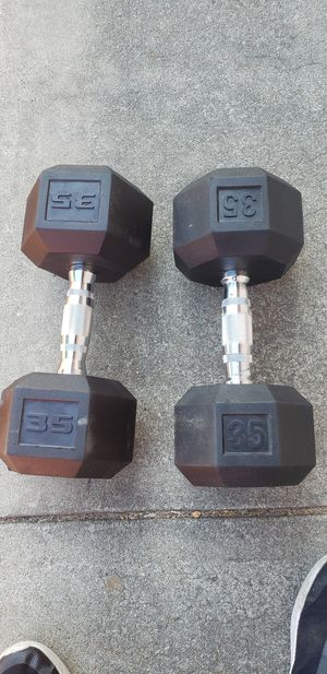 35 lbs dumbbells pair for Sale in Sunnyvale, CA