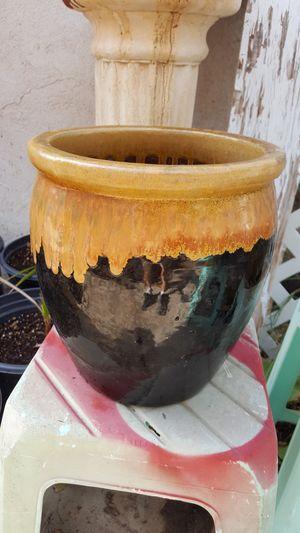 Glazed flower pot for Sale in Phoenix, AZ